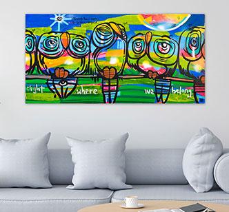 Lebo Art - Right Here Where We Belong Art Bond